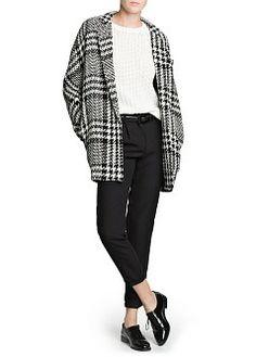 MANGO - CLOTHING - Coats - Oversize prince of Wales coat