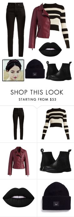 """Eva"" by pesmica ❤ liked on Polyvore featuring Yves Saint Laurent, Proenza Schouler, Chicwish, Dr. Martens, Lime Crime and Acne Studios"