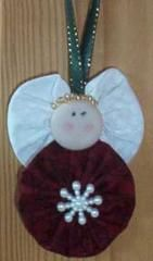 Angel Yo-Yo Ornament | Quilt Patterns  Blocks | Angie's Bits 'n Pieces