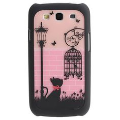 Lovely Cat and Birdcage Pattern 2 in 1 Detachable Hard Case for Samsung Galaxy S3 I9300 – USD $ 4.99