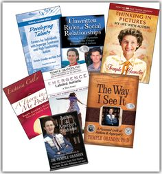 Dr. Temple Grandin's website. An amazing, successful, brilliant woman with Autism Spectrum Disorder. She's written many books and the documentary film about her life is also wonderful.