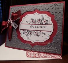 Another beautiful card from Chris Smith, this one using the Finial Press embossing folder with the Apothecary Art stamp set and Framelits dies