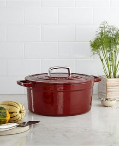 Martha Stewart Collection Collector's Enameled Cast Iron 6 Qt. Round Casserole - $53.99