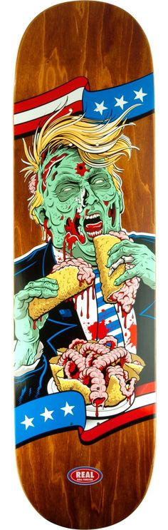 Real Skateboards Running Dead Rep.  Skateboard Deck