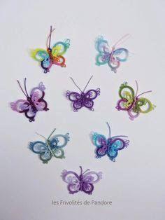 Resultado de imagen de tatting butterfly