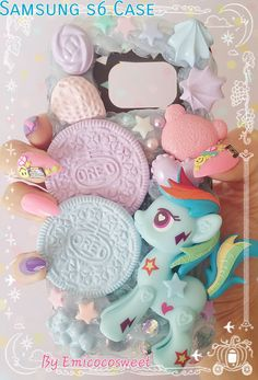My Little Pony Decoden Phone Case,Decoden Samsung s6 My Pony Phone  #Samsungs6