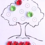 counting apples on the tree