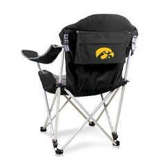 Now you can sit back and relax as you watch your kids play in the park or even relax at the beach with this University of Iowa Reclining Camp Chair w/Digital Print by Picnic Time. This Reclining Camp
