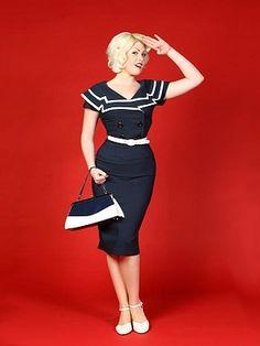Bettie Page Captain Pencil Dress