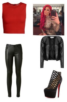 A fashion look from April 2015 featuring red shirt, faux-leather jackets and Yves Saint Laurent. Browse and shop related looks. Wwe Outfits, Fashion Outfits, Natalie Eva Marie, Character Inspired Outfits, Red Shirt, Faux Leather Jackets, Cute Casual Outfits, Polyvore Outfits, Yves Saint Laurent