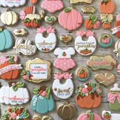 "147 Likes, 13 Comments - Renee Camacho (@simplyreneesweets) on Instagram: ""This set. It's my fav now. . The most ADORABLE #fallbabyshower cookie set. I love adding little…"""