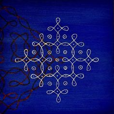 One of my kolam on canvas paintings. (sold) © Bala Thiagarajan, 2012