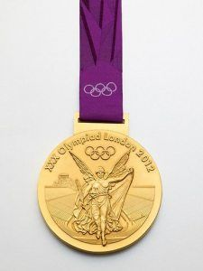 Competing is Winning the Gold Olympic Gold Medals, Shades Of Gold, Waterford Crystal, Summer Olympics, Olympic Games, Inventions, Pure Products, London, Silver