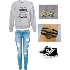 """""""hunger games outfit"""" by missbri2000 on Polyvore"""