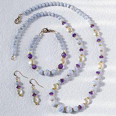 Blue Lace Agate Statement Jewelry