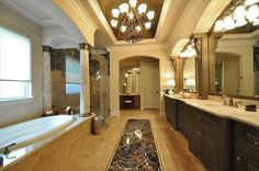 Celebrity Bathrooms: One of Six bathrooms in Houston Texan's Linebacker Brian Cushing's mansion