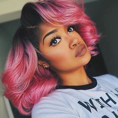 HAIR INSPIRATION: currently obsessed with this prefect pink bob on @thesmartista  #hair #hairinspiration #hairstylist #cosmetologist #haircolor #colorist #pinkhair #ombre #wig #modernsalon #americansalon #behindthechair #thecutlife #curlbox #styleseat #style #beauty #model #instagood #inspo #instalove