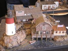 This beautifully built wharf scene was just one of many models and dioramas on display at this years EXPO. Some Great Modelling At Th. Ho Trains, Model Trains, Amish Farm, Garden Railroad, Model Train Layouts, Christmas Villages, Driftwood Art, Barbie House, Model Ships