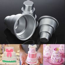 Buy New Cake Trays Mini 3 Tier Cake Pan Tins Cupcake Pudding Pizza Molds DIY Home Decors Birthday Party Supplies at Wish - Shopping Made Fun Chocolate Pudding Cake, Chocolate Molds, Chocolate Cupcakes, 3 Tier Cake, Tiered Cakes, Cupcake Mold, Muffin Cupcake, Cupcake Pans, Cake Tray