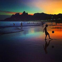 Image via We Heart It #beach #beautiful #brazil #rio #summer #sunset #worldcup #neymar