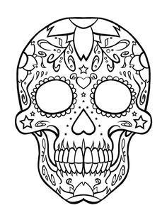 coloring book day of the dead - Google Search