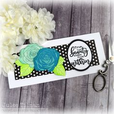 Handmade card by Julee Tilman featuring stamps from Sweet 'n Sassy Stamps. #handmadecards #stamper You Are Blessed, Foam Sheets, Different Flowers, Summer Fruit, Amazing Grace, True Beauty, Free Gifts, I Card, Projects To Try
