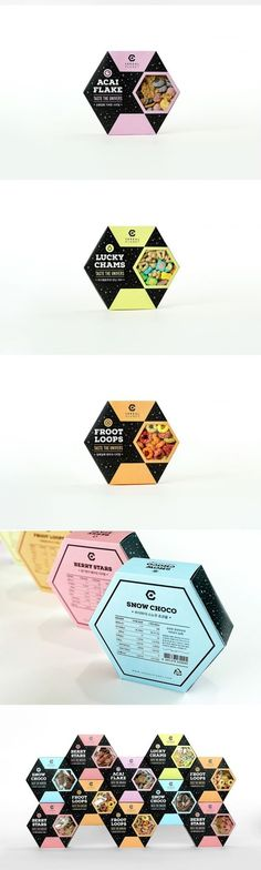Cereal Planet Packaging by Mihyun Sim