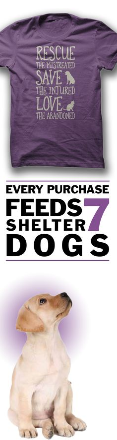 Would you wear this?  **Every purchase feeds 7 shelter dogs!