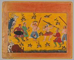 Celebrating Maha Ustav. Bikaner Bgavata Purana ca. 1610 Rajastan