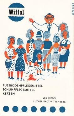 VEB WITTOL, LUTHERSTADT WITTENBERG, East German Vintage Ad, DDR Werbung, GDR, 1961
