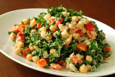 Creamy Cashew Kale and Chickpeas