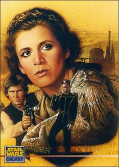 Star Wars Galaxy: Series 3 (Promo) 000-A by Topps - For more Star Wars art, please visit my Star Wars board on Pinterest here- http://pinterest.com/fairbanksgrafix/star-wars/