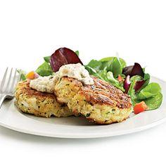 Crab Cakes with Spicy Rémoulade | MyRecipes.com