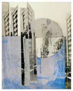 printstamps:  A Day in the Studio: Della Paul Photolithography collage on Rives BFK lightweight