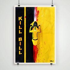 KILL BILL   Fan Art   Minimalistic Kill Bill poster Quentin Tarantino by Lautstarke, $25.00