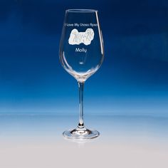Lhasa Apso Dog Lover Gift Engraved Personalised Fine Quality Wine Glass - Your Name and Message - Birthday Gift - Mother's Day Gift