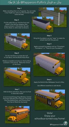 Pepperoni-Puffin — Build-a-Bus Kit Inspired by Tiny Living, I decided. Sims 4 House Plans, Sims 4 House Building, Lotes The Sims 4, Sims Cc, Sims Challenge, Sims 4 House Design, Sims 4 Gameplay, Casas The Sims 4, Sims 4 Cc Packs