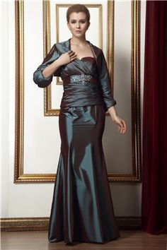 Floor-Length Brown Trumpet/Mermaid All Sizes Strapless Natural Elegant & Luxurious Beading Dress