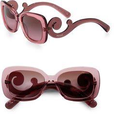 1ba6d3bb4912f PRADA Baroque Sunglasses - Lyst Prada Baroque Sunglasses