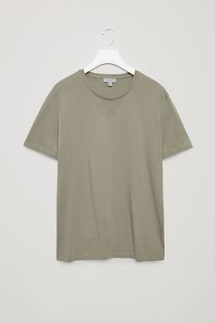 COS image 35 of Round-neck t-shirt in Khaki Green