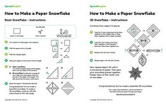 Free How to Make a Snowflake activity from Sprout English.