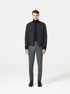 COS quilted bomber jacket