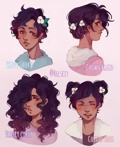 Another which is your fav hair style? Short- Braid- Curly- Buns. Featuring Cottonpuff this time!  Reused some of the hairstyles from before because i really wanted to see her in them! #relseiy_ocs #digitalart #كلنا_رسامين