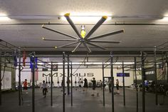 Large, Quiet HVLS Ceiling Fans for Specialty Gyms & Yoga | Big Ass Fans