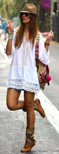 Ibiza style boho fashion, hippie style, bohemian style