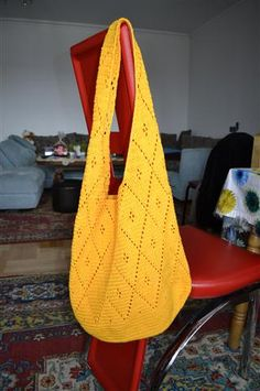 Yellow Finnish crochet bag ♥ - CROCHET