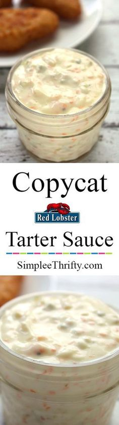 Copycat Red Lobster Tartar Sauce How often do you eat seafood? We love it and have whipped up a Copycat Red Lobster Tartar Sauce recipe for you!   #HealthyEating #sauces Sherman Financial Group