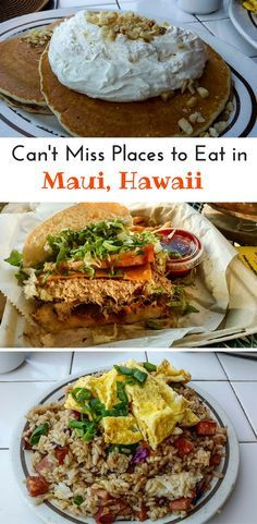 Where to find the best places to eat in Maui, Hawaii. From fish to fried rices and everything you want to try in Maui.
