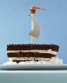 Chocolate Chip Ship Cake Idea