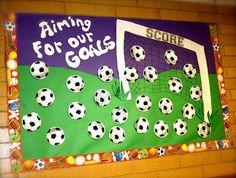 Image result for soccer goal bulletin board